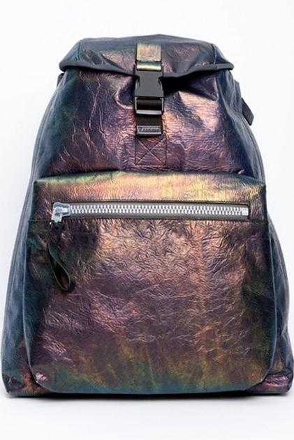 Lanvin iridescent calfskin backpack.