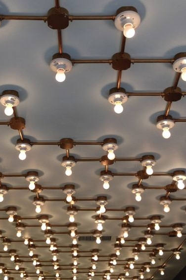 Exposed Pipe Lighting Ceiling Trend Statements Santa Fe