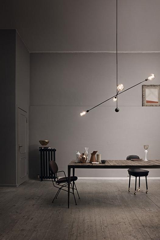 Bare bulb Asymmetrical Light Fixture.