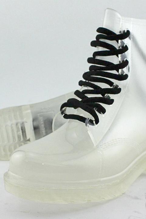 Clear Rubberella women's rain boots.
