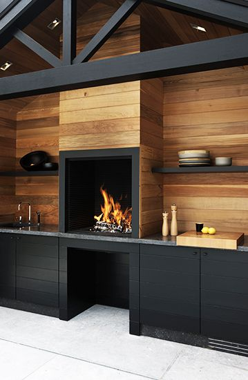 Exterior Black Kitchen from MyDomaine website