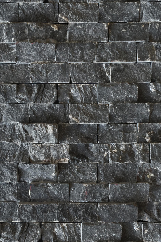 Rough Black Stone Tile Statements in Santa Fe