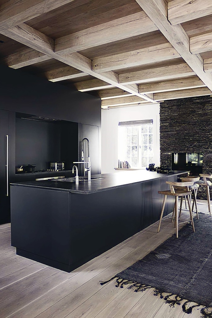 Black Kitchen by French by Design