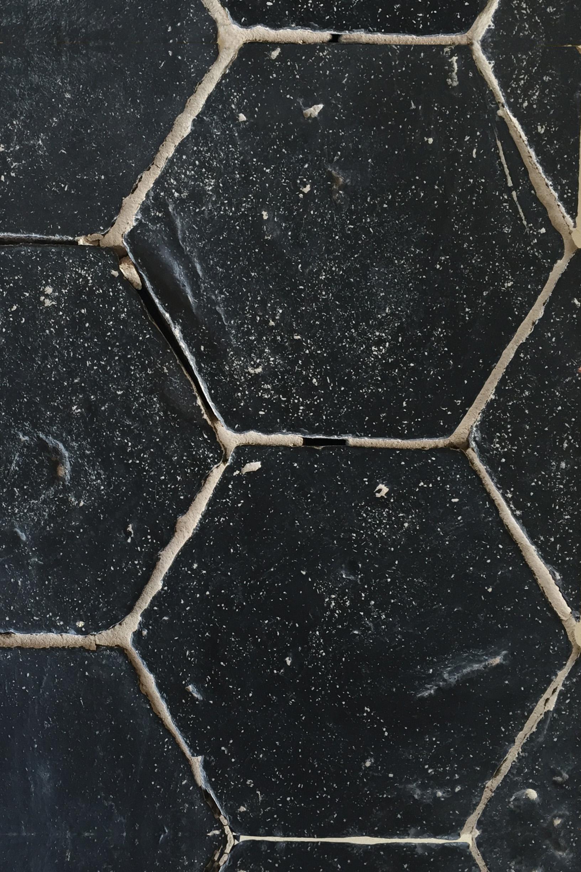 Hexagonal Black Kitchen Tile