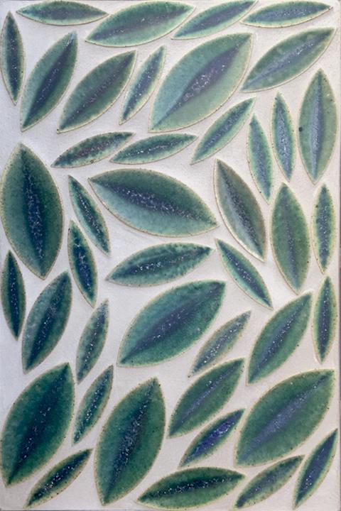 Green Ficus Leaves Tile