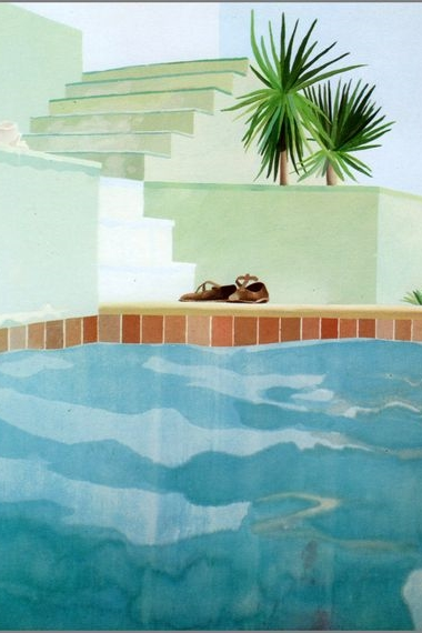 Pool & Steps by David Hockney