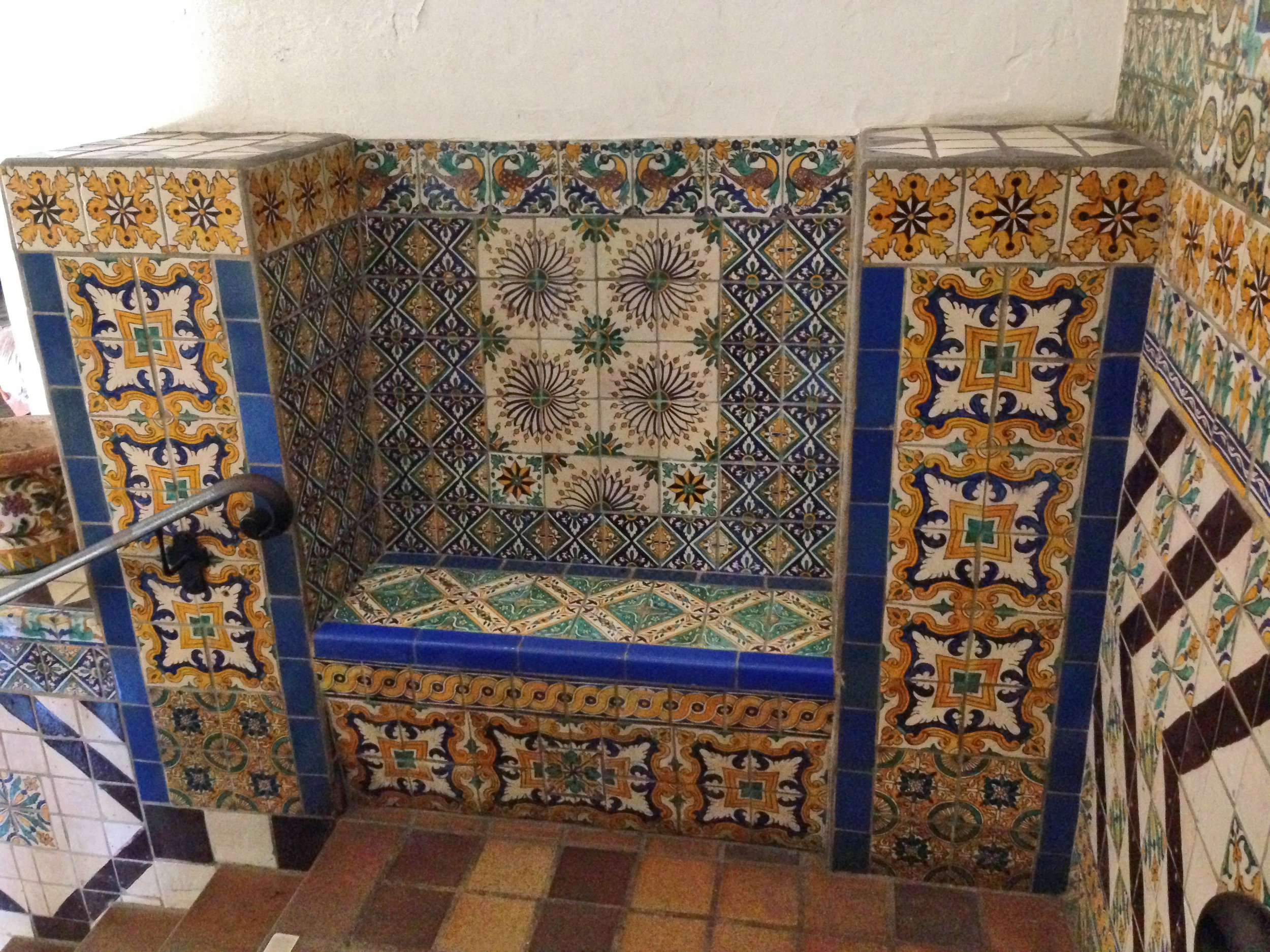 colorful+tiled+bench+statements+santa+fe