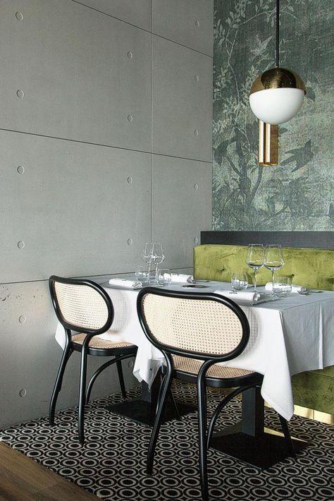 Restaurant La Forêt Noire in Lyon, France. Via Pinterest.