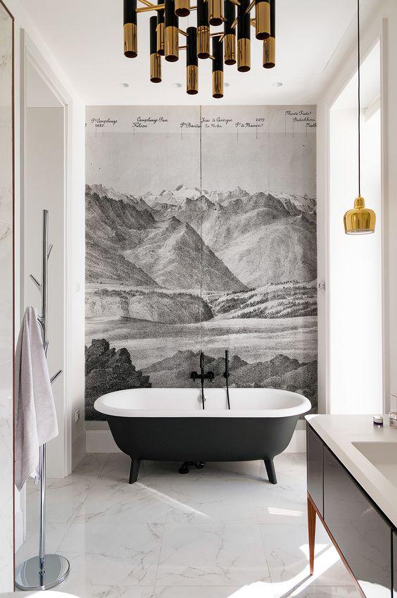 Bathroom in Kiev designed by Alena Makagon.
