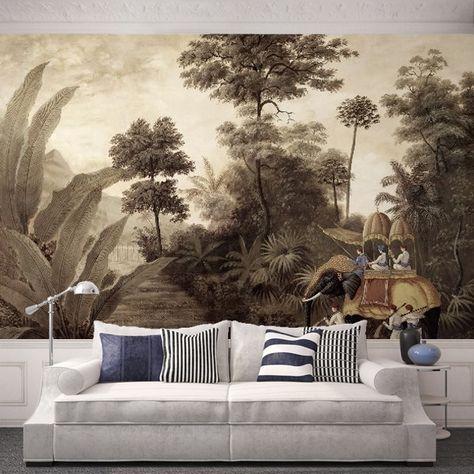 large scale wallpaper mural via Pinterest.
