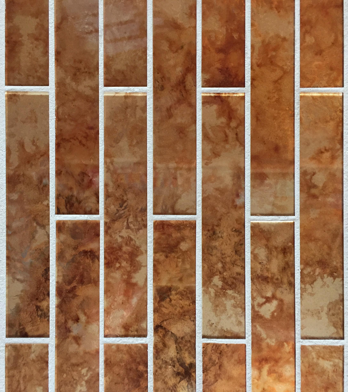 Copper leaf tile.