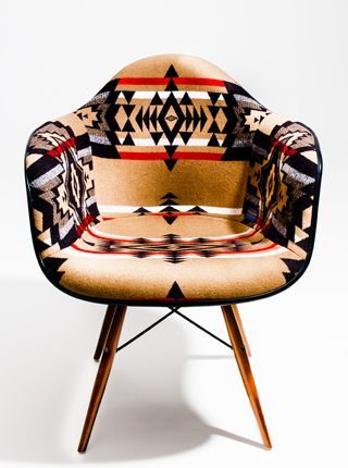 Pendleton upholstered vintage chair.