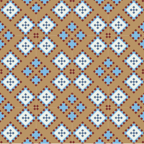 Southwest inspired patterned cement tile.