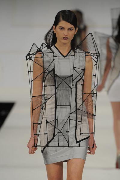 Wearable architectural fashion by Richard Sun.