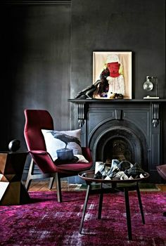 Inky interior via We Are Scout. Photo by Mike Baker, styling by Heather Nette King.