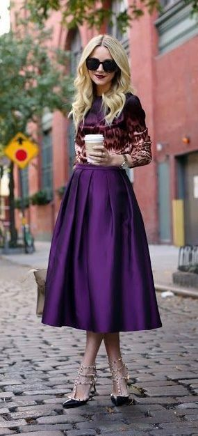 Blogger Blaire Eadie artfully combines shades of purple,  @blaireadiebee/Instagram