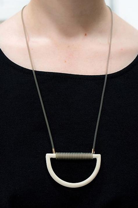 Arc necklace by Julie Cohn.