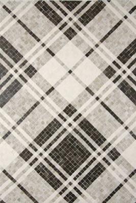 Plaid pattern mosaic tile.