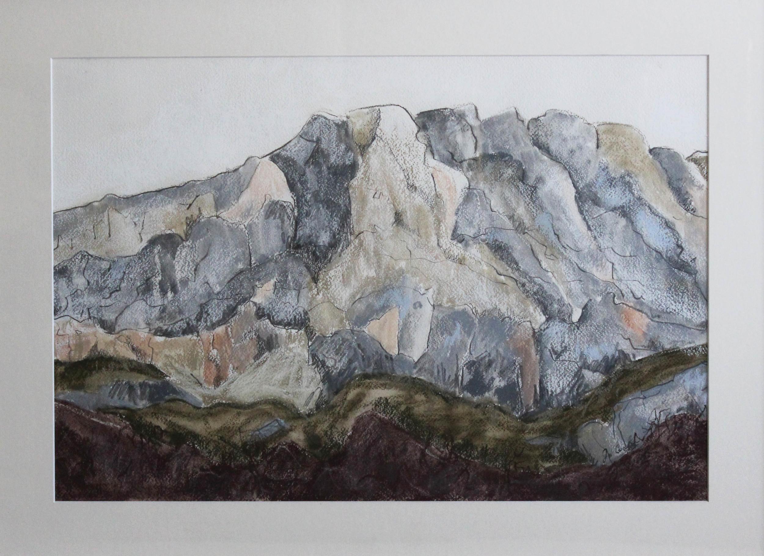 Mont St Victoire, 700 x 520 mm