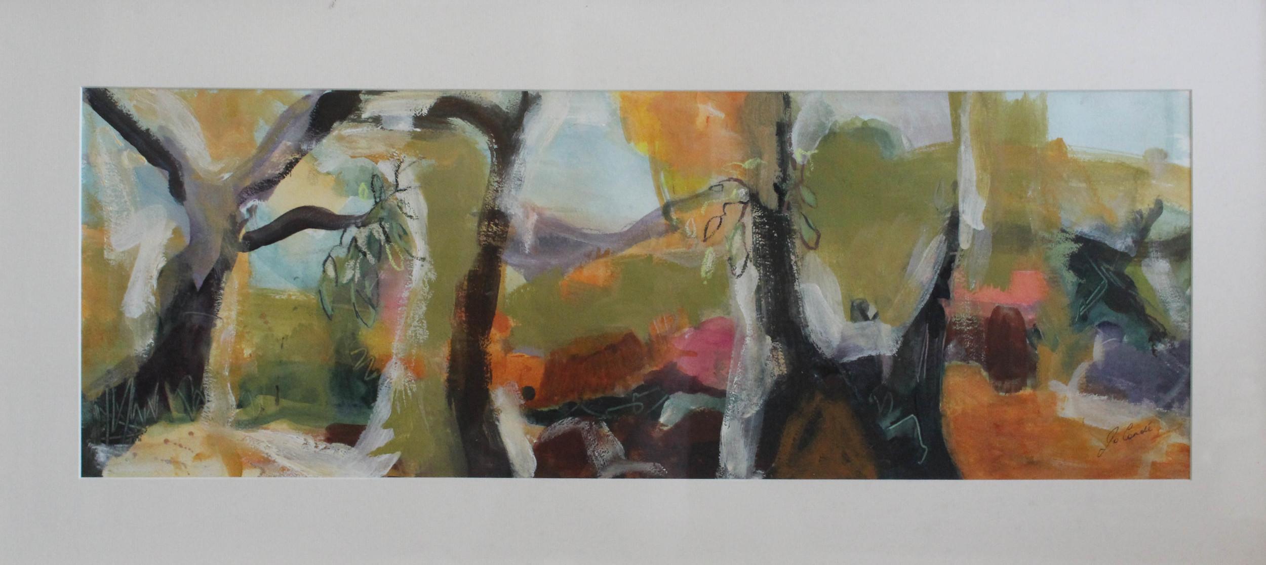 Through the Trees, 930 x 460 mm