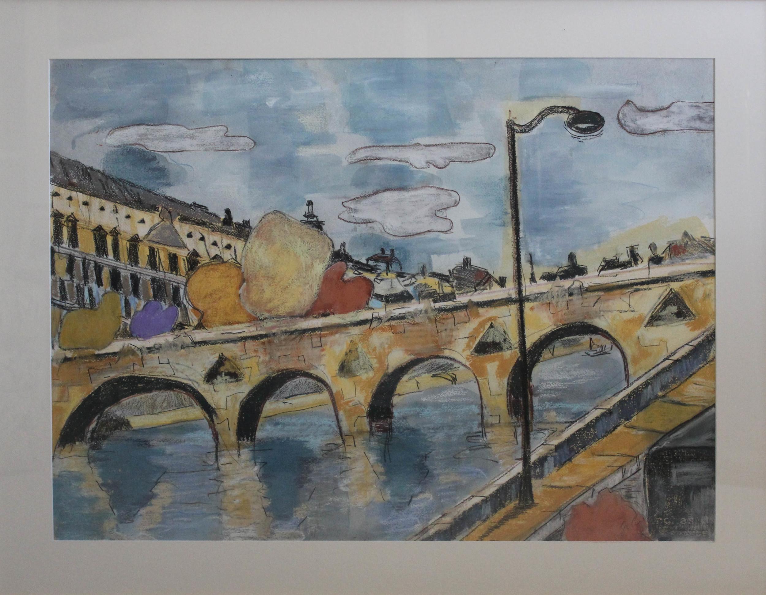 Paris Bridge, 940 x 740 mm