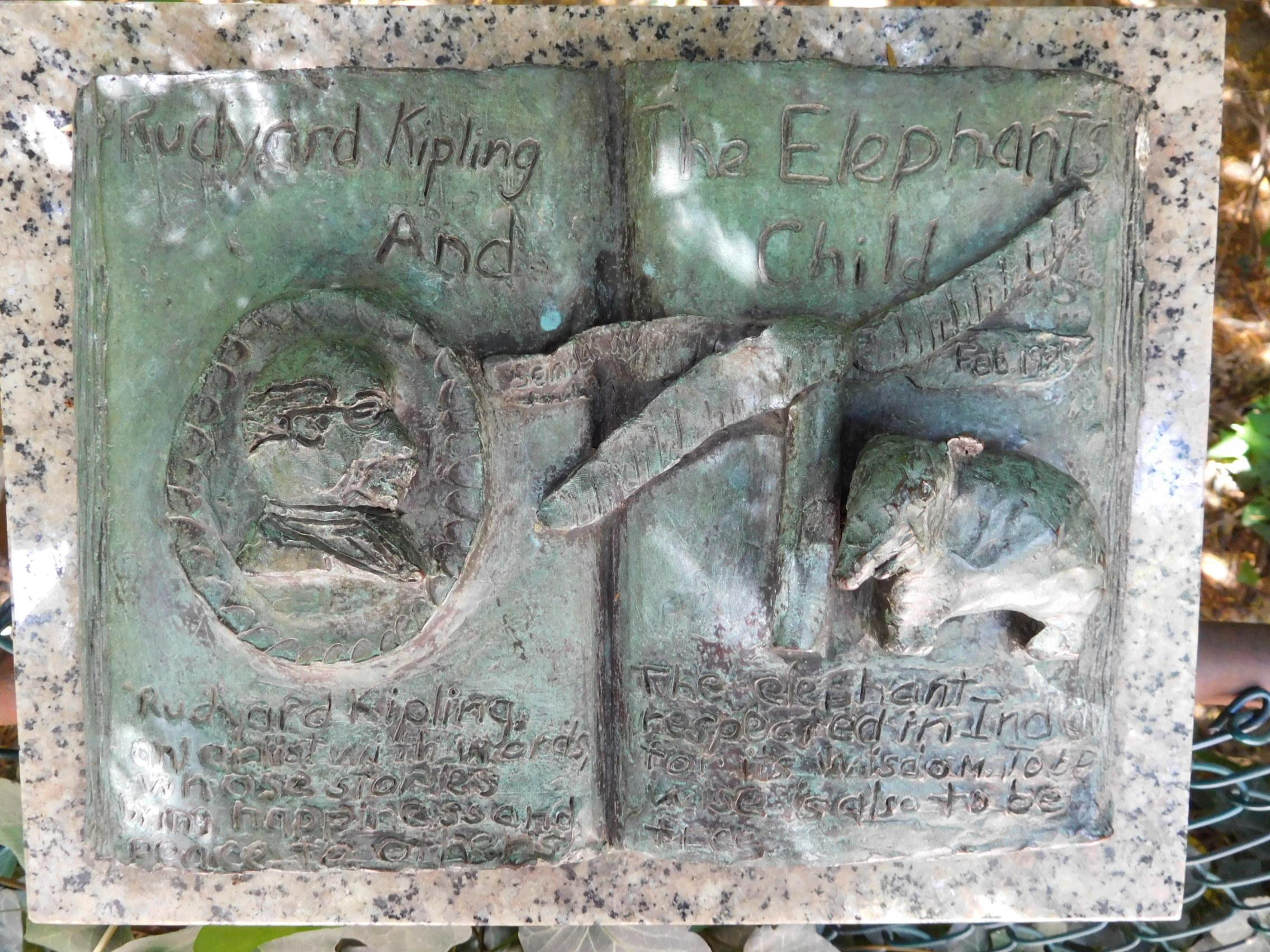 ^ Plaque - Rudyard Kipling