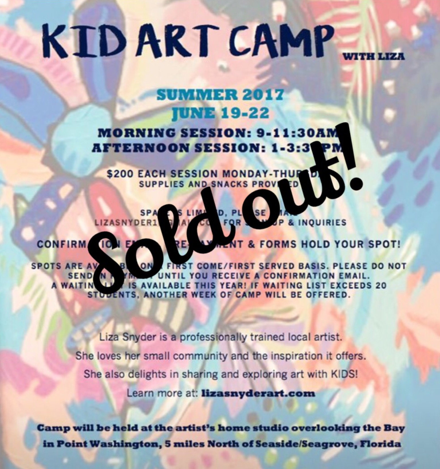30a kids art camp