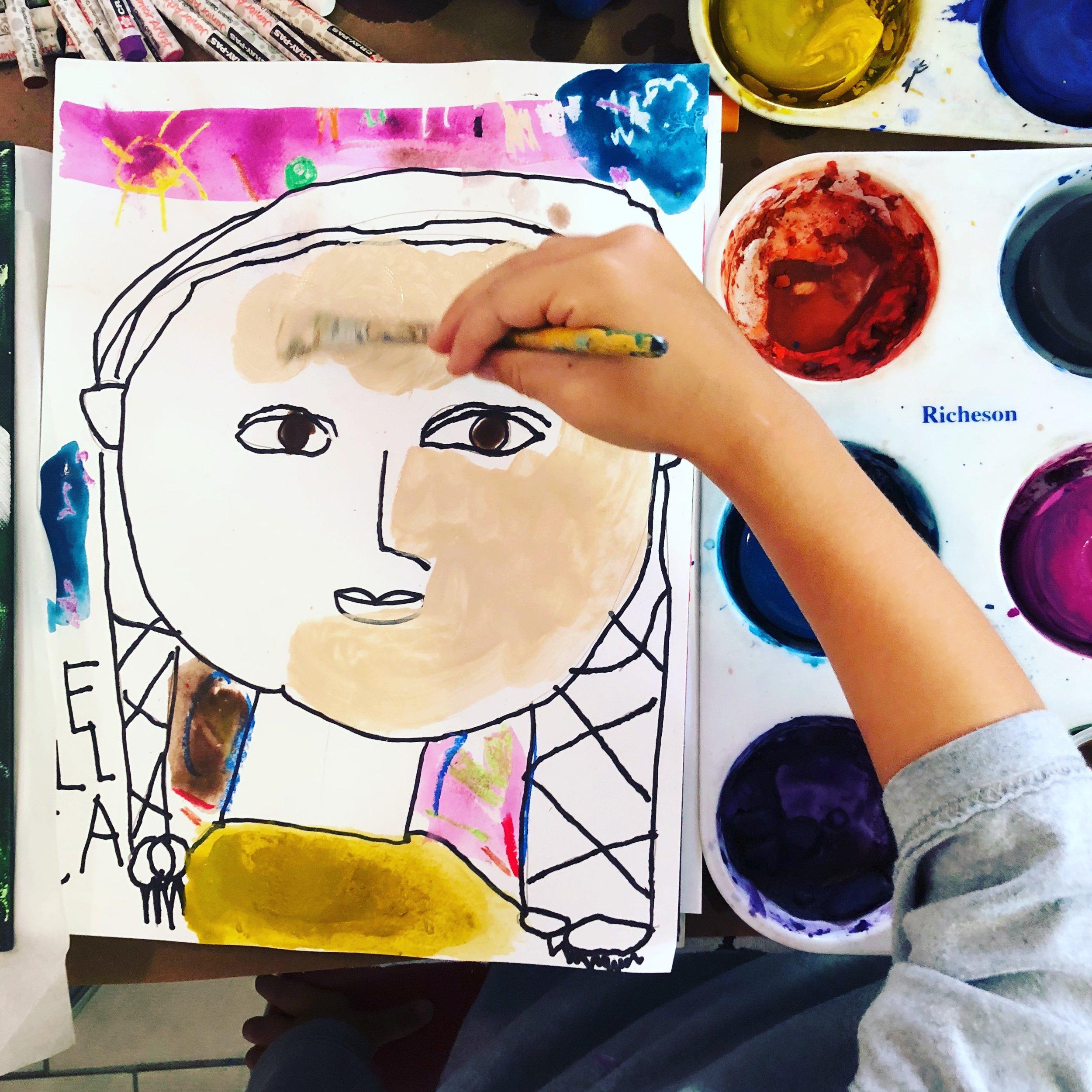 homeschool art self portrait.JPG