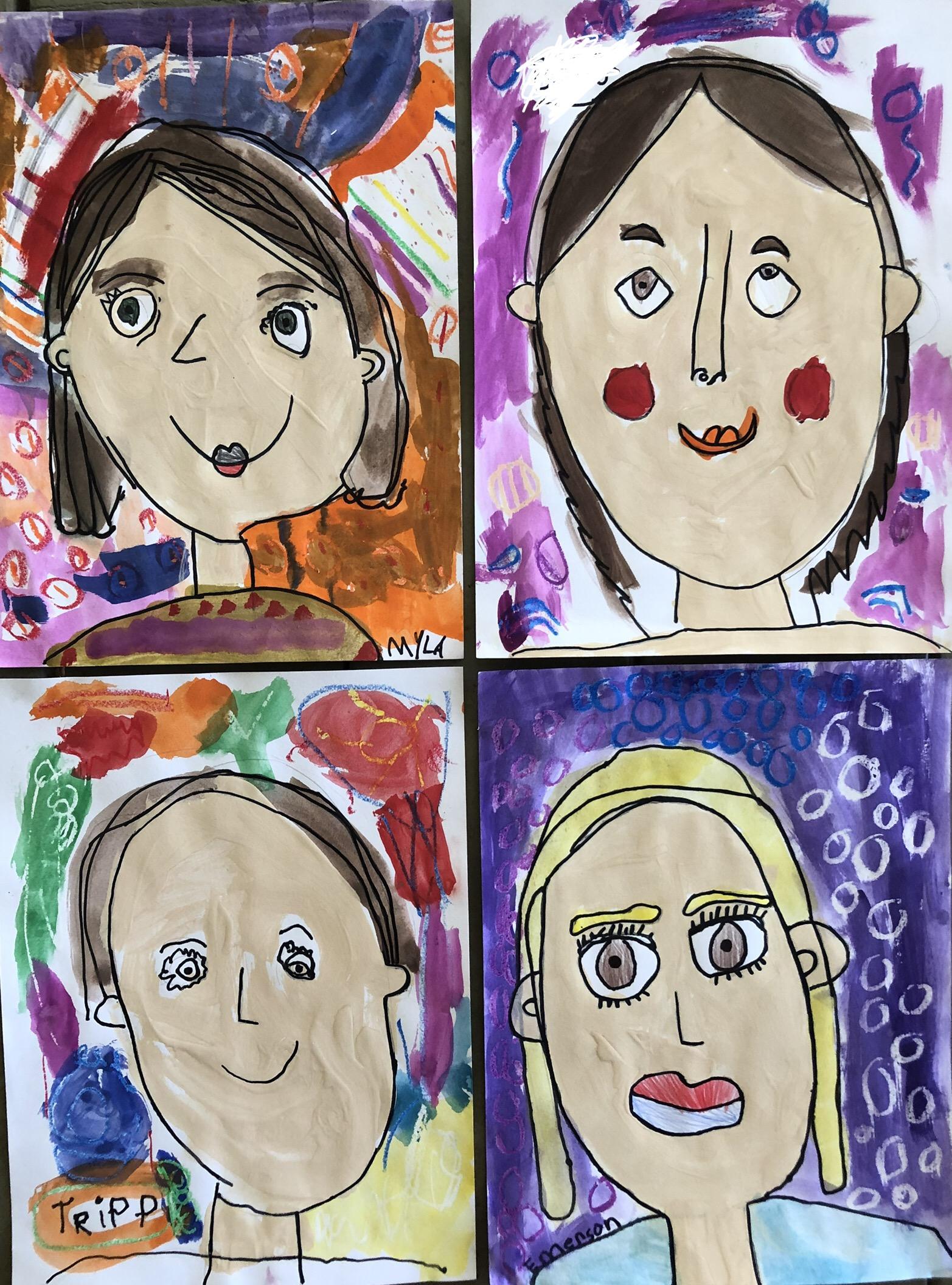 homeschool art 2 self portraits.jpg