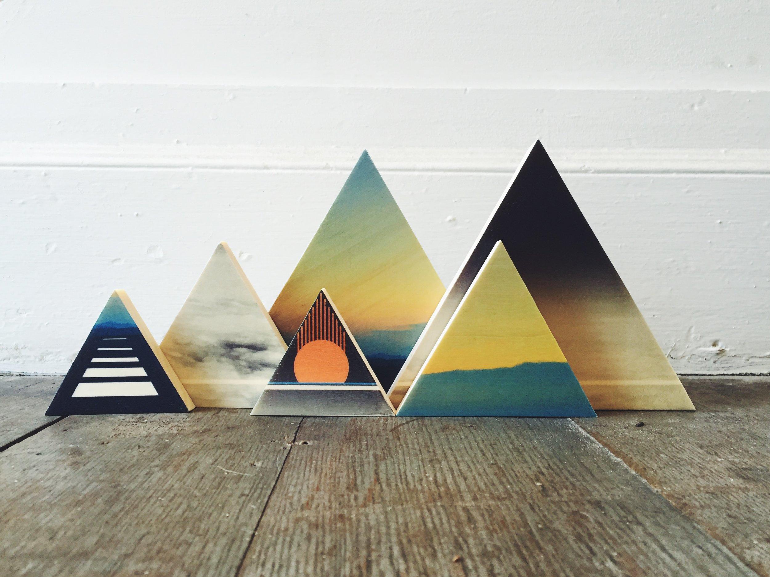 Triangle Mountain range