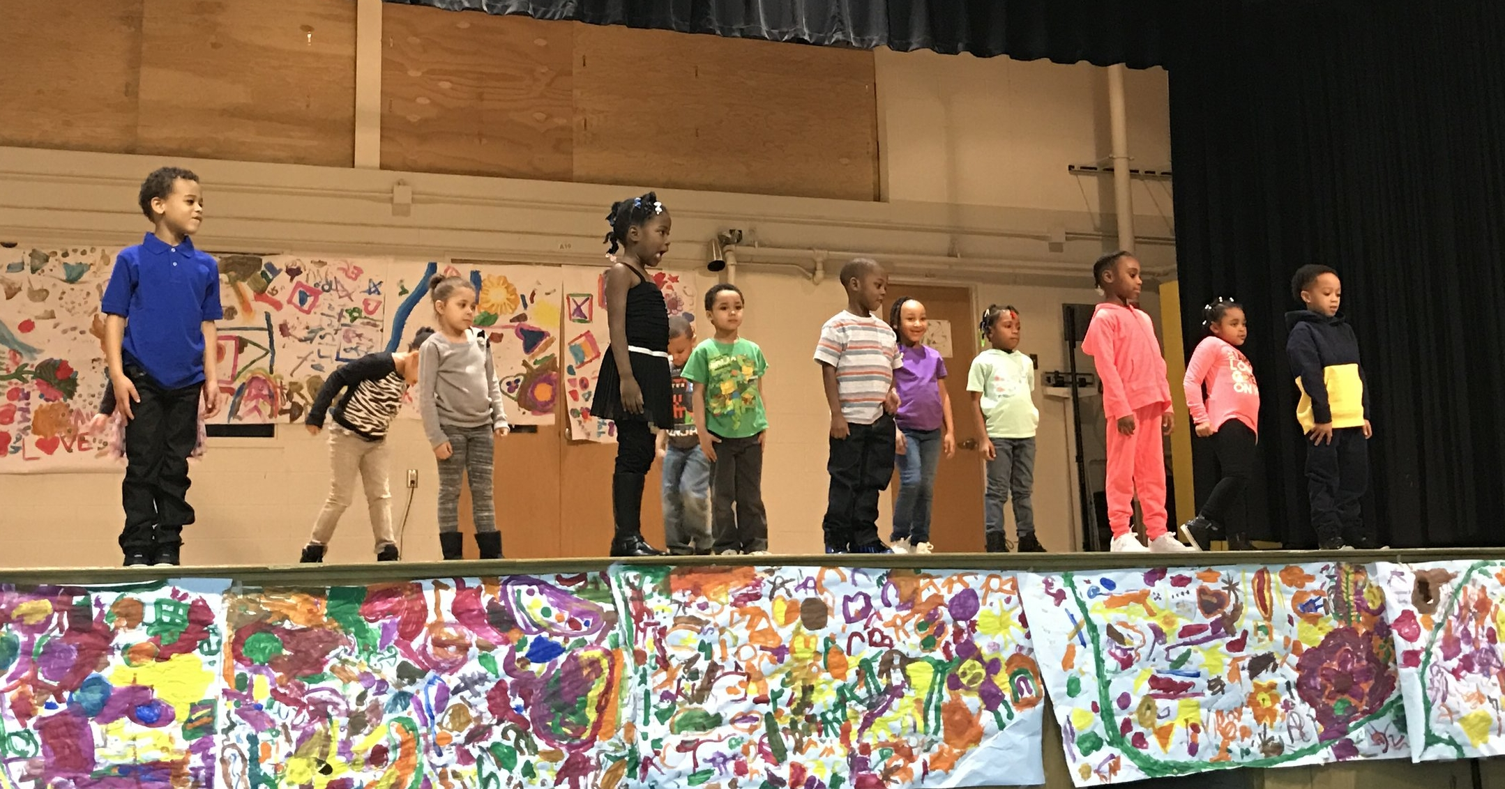 The Jackson State University kindergarten class performed to R. Kelly's  World's Greatest.