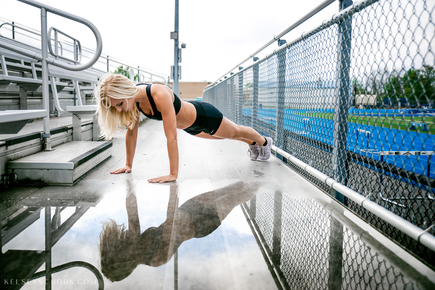 Kelsey drove into Buffalo, NY from Rochester for her summer fitness photoshoot with fitness photographer Kelsey Schork.