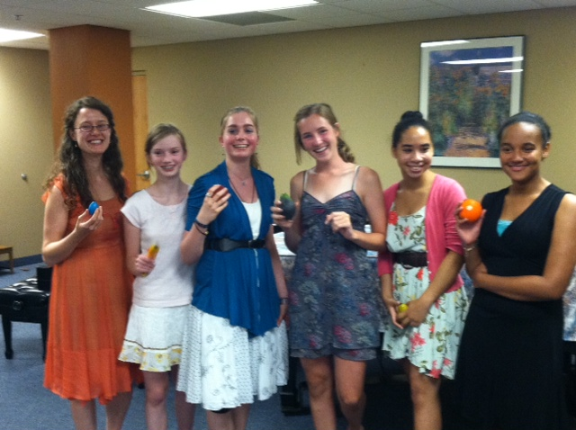 The Picardy Thirds Flute Ensemble and their fabulous fruit shakers!