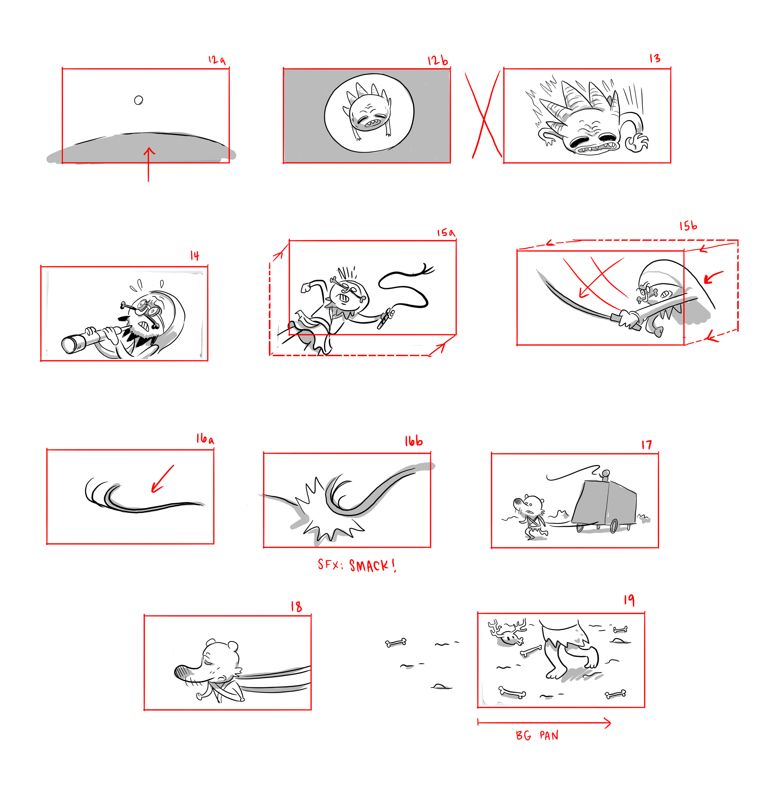 Storyboards for  Meteorat.