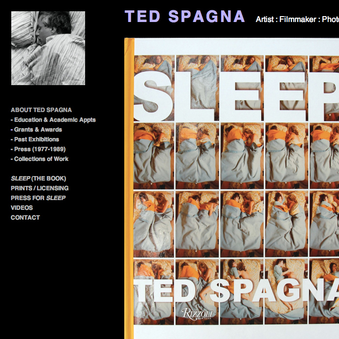 Ted Spagna Sleep Web Design
