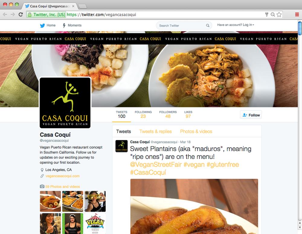 Casa Coqui Twitter Page