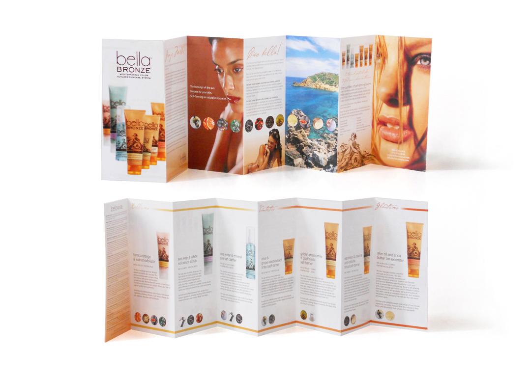 Bella Bronze Sunless Skincare System Brochure