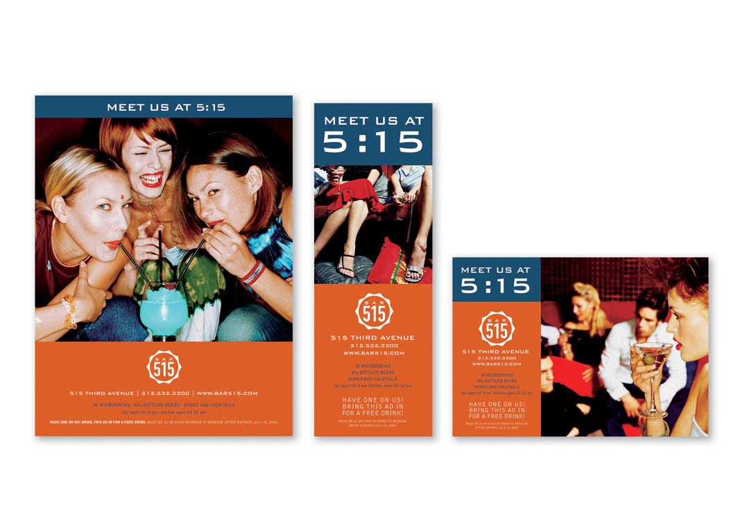 Bar 515 NYC: Meet Us at 5:15 Advertising Campaign