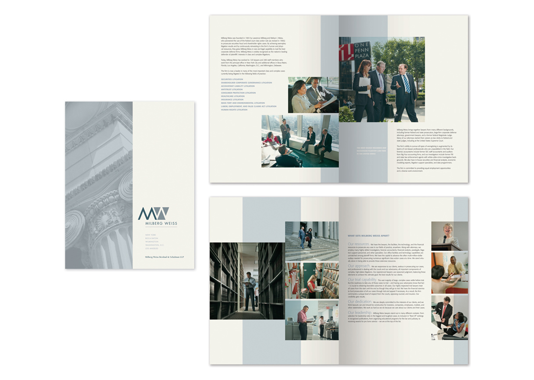 Milberg Weiss Attorneys at Law Brochure