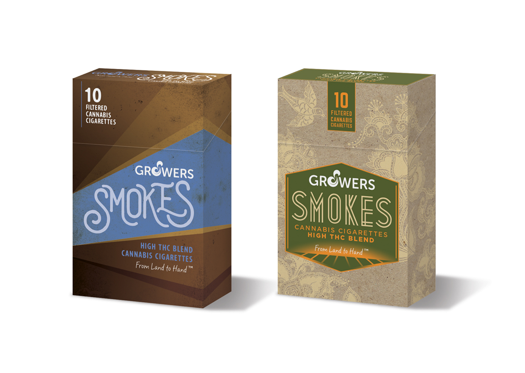 Growers Brands Cannabis Smokes Concept Designs