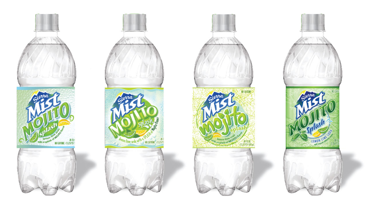 Sierra Mist Mojito Flavor Extension Design Exploration