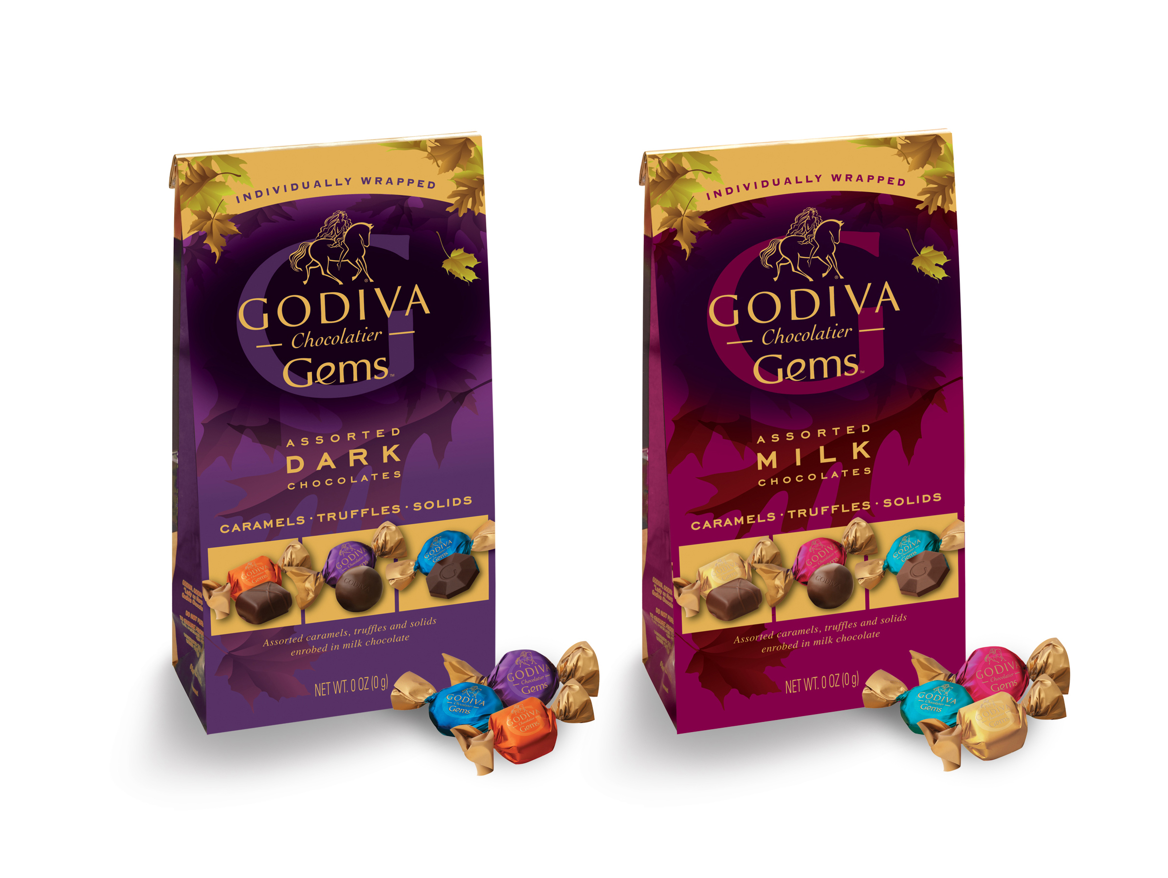 Godiva Gems Package Design - Fall Assortment