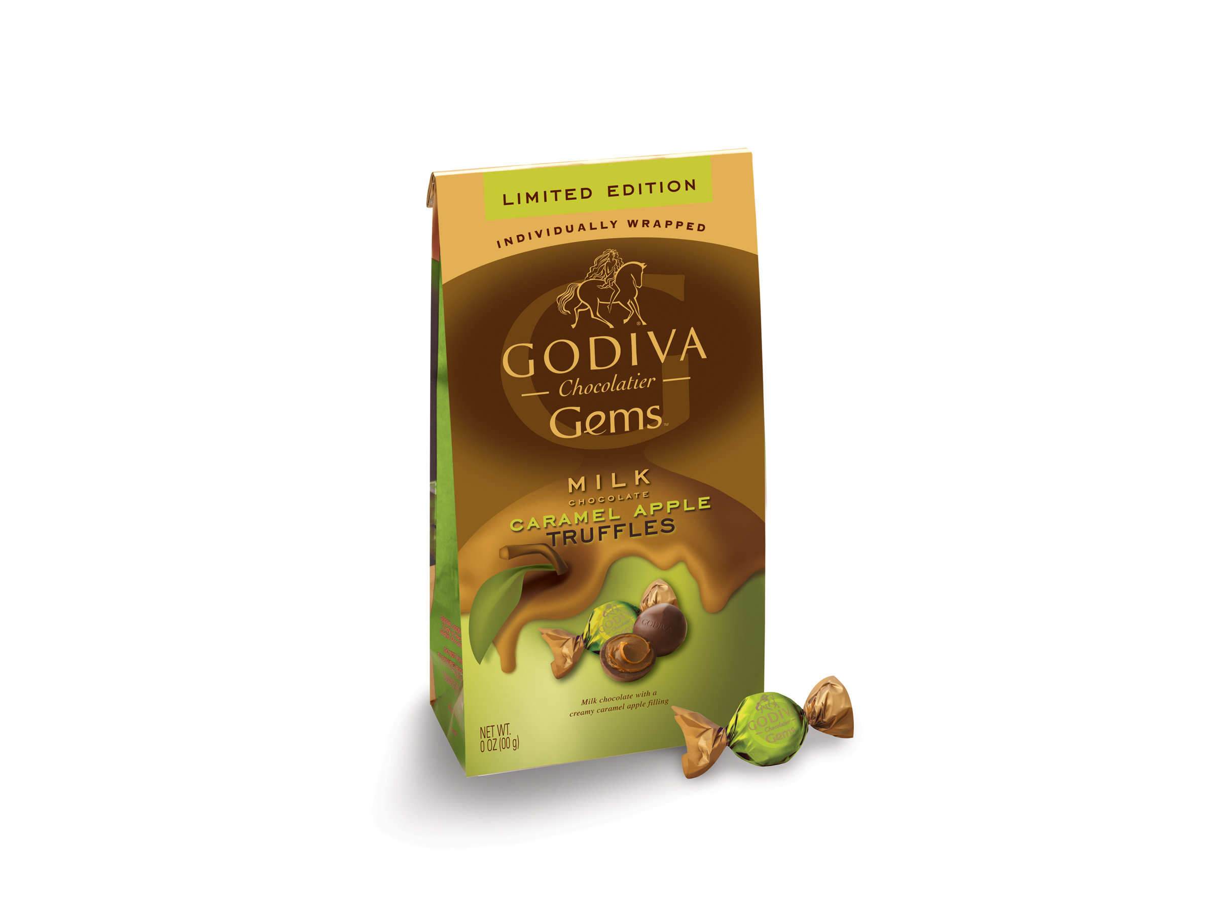 Godiva Gems Package Design - Caramel Apple