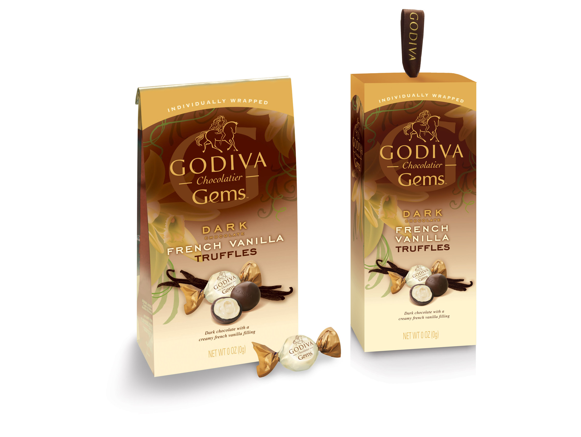 Godiva Gems Package Design - French Vanilla