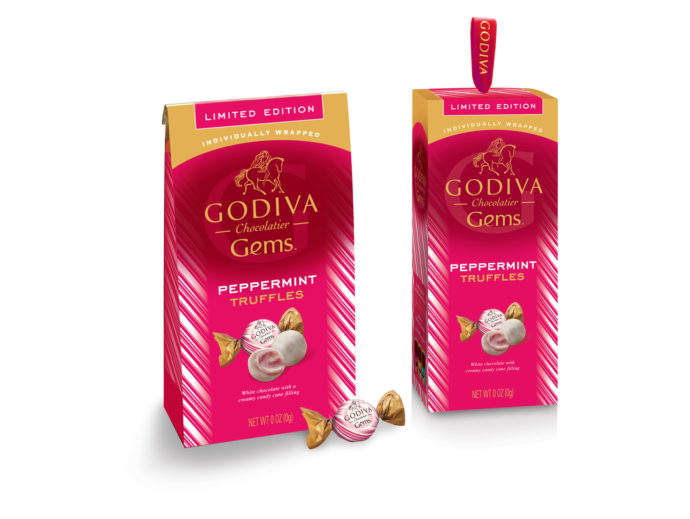 Godiva Gems Package Design - Holiday Peppermint