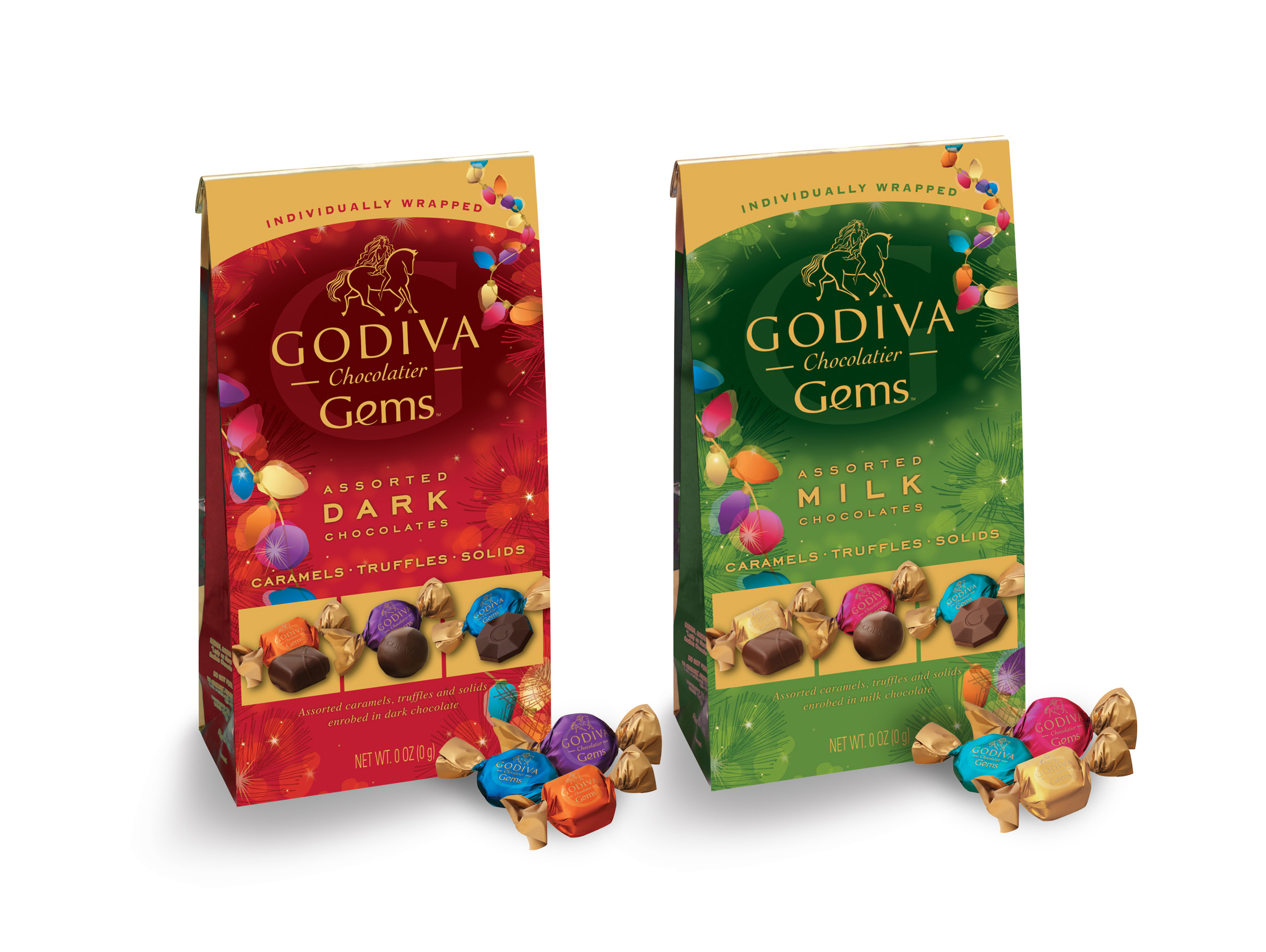 Godiva Gems Package Design - Holiday Assortments