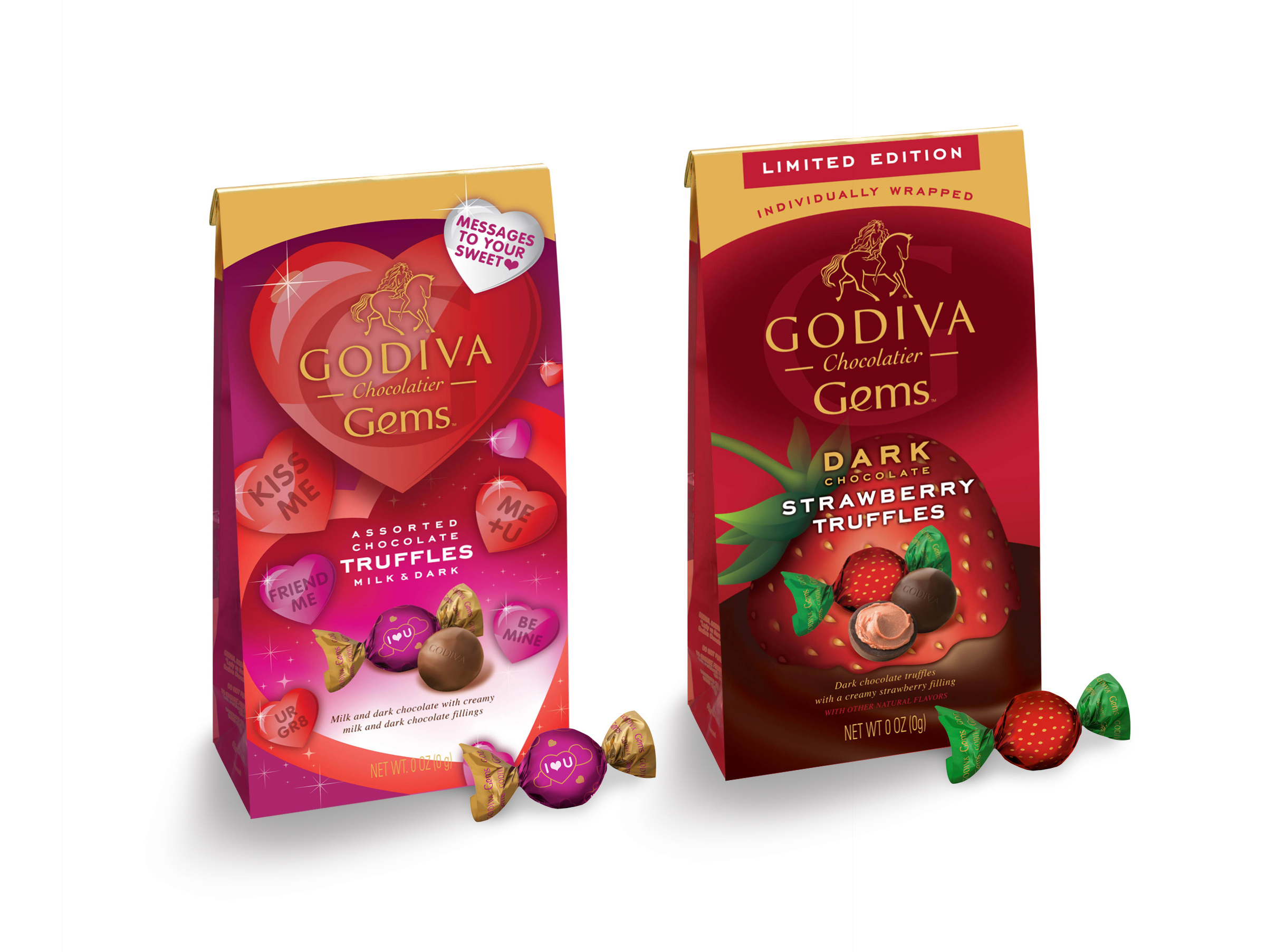 Godiva Gems Package Design - Valentine's Day