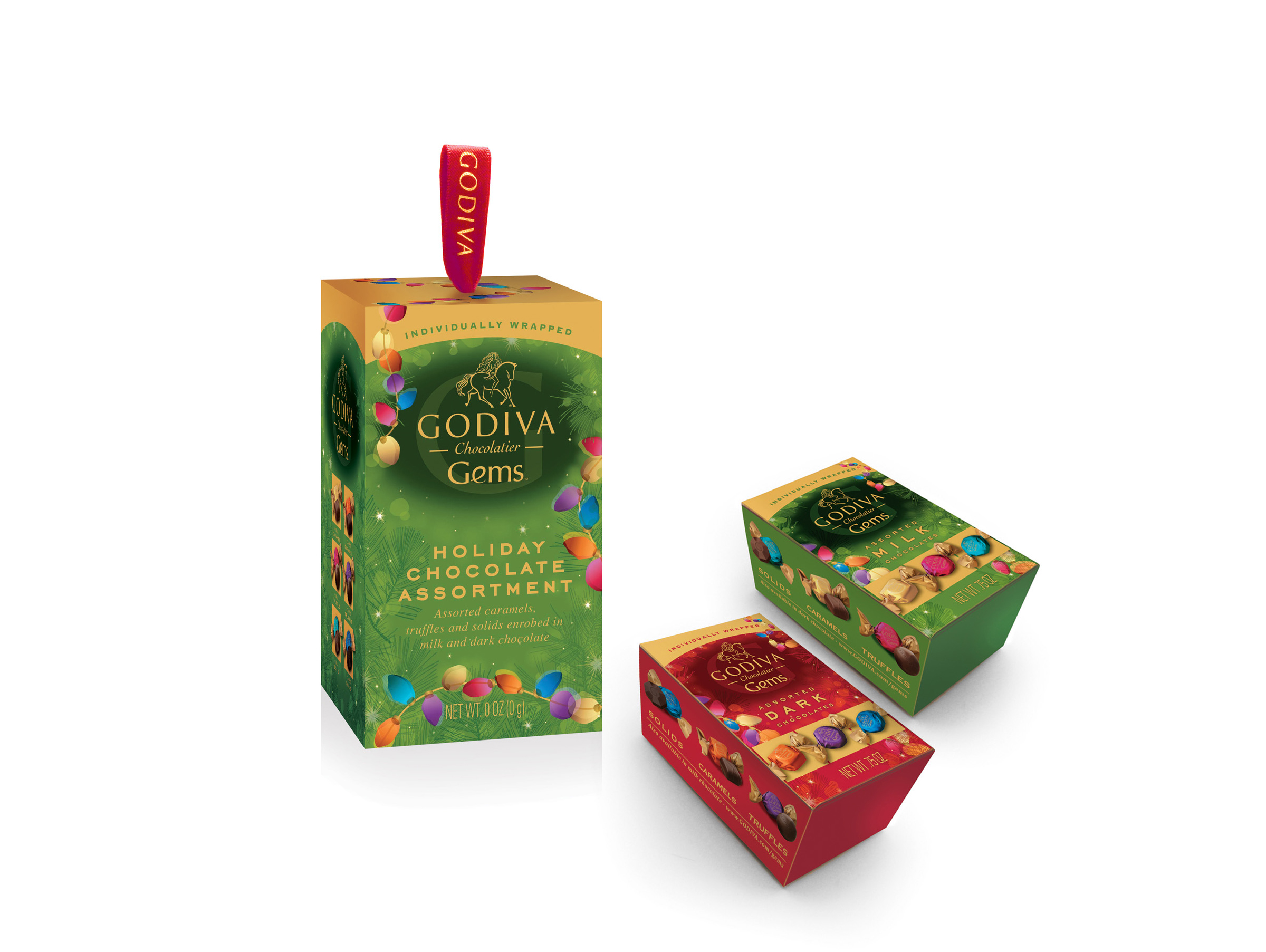 Godiva Gems Package Design - Holiday Samplers