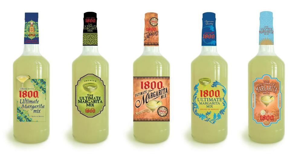 Jose Cuervo 1800 Margarita Mix Label Design Exploration