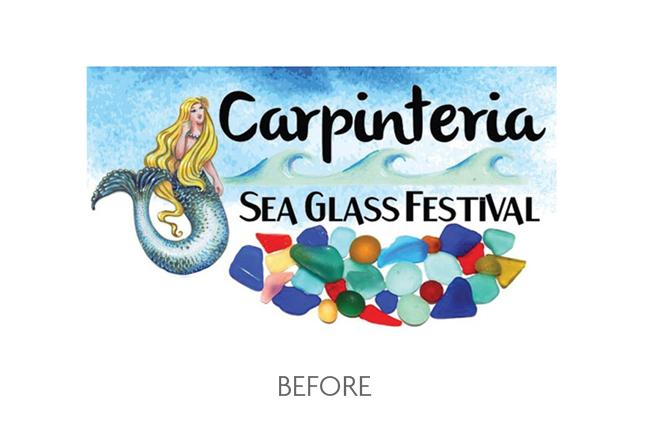 Carpinteria Sea Glass Festival Logo Before